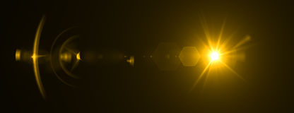 Επίδραση φλογών φακών τρισδιάστατη απόδοση Στοκ φωτογραφία με δικαίωμα ελεύθερης χρήσης