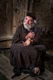 Επαίτης στη βιβλική σκηνή Στοκ εικόνα με δικαίωμα ελεύθερης χρήσης