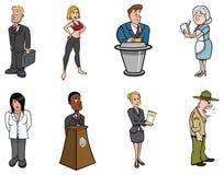 επαγγέλματα ανθρώπων ελεύθερη απεικόνιση δικαιώματος