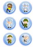 επαγγέλματα κουμπιών Στοκ φωτογραφία με δικαίωμα ελεύθερης χρήσης