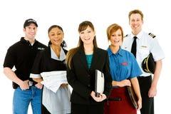 Επαγγέλματα: Ομάδα εύθυμων ανθρώπων στα διάφορα επαγγέλματα Στοκ φωτογραφία με δικαίωμα ελεύθερης χρήσης