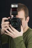 επαγγελματίας φωτογράφ&o Στοκ εικόνα με δικαίωμα ελεύθερης χρήσης