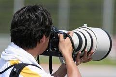 επαγγελματίας φωτογράφ&o Στοκ Εικόνες