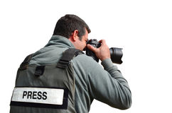επαγγελματίας photojournalist Στοκ Φωτογραφίες