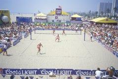 Επαγγελματικά πρωταθλήματα πετοσφαίρισης άμμου γυναικών στοκ φωτογραφίες με δικαίωμα ελεύθερης χρήσης