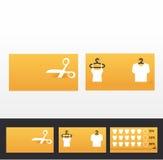 Επαγγελματικές κάρτες ενδυμάτων, έκπτωση και προωθητικές κάρτες Στοκ εικόνες με δικαίωμα ελεύθερης χρήσης