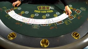 Επαγγελματικές κάρτες μετάθεσης για το παιχνίδι πόκερ από την επιχείρηση ψυχαγωγίας κρουπιερών φιλμ μικρού μήκους