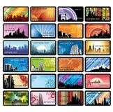 επαγγελματικές κάρτες που τίθενται Στοκ Φωτογραφίες