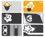 επαγγελματικές κάρτες που τίθενται Στοκ Εικόνα