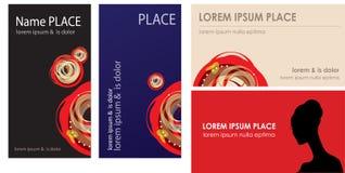 επαγγελματικές κάρτες π Στοκ Εικόνα