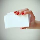 επαγγελματικές κάρτες Στοκ φωτογραφίες με δικαίωμα ελεύθερης χρήσης