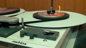 Επαγγελματική αναδρομική μηχανή οργάνων καταγραφής γεφυρών κασέτας ήχου, πρόοδος εργασίας απόθεμα βίντεο
