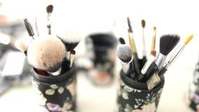 Επαγγελματική βούρτσα makeup απόθεμα βίντεο