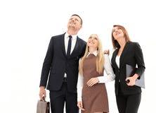 Επαγγελματική επιχειρησιακή ομάδα που κοιτάζει στο μέλλον Η επιχειρησιακή έννοια Στοκ Εικόνες