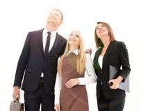 Επαγγελματική επιχειρησιακή ομάδα που κοιτάζει στο μέλλον Η επιχειρησιακή έννοια Στοκ φωτογραφία με δικαίωμα ελεύθερης χρήσης