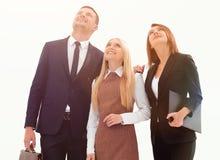 Επαγγελματική επιχειρησιακή ομάδα που κοιτάζει στο μέλλον Η επιχειρησιακή έννοια Στοκ Εικόνα