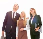 Επαγγελματική επιχειρησιακή ομάδα που κοιτάζει στο μέλλον Η επιχειρησιακή έννοια Στοκ Φωτογραφίες