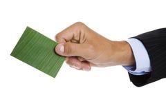 επαγγελματική κάρτα πράσι στοκ φωτογραφία με δικαίωμα ελεύθερης χρήσης