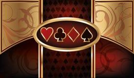 Επαγγελματική κάρτα πόκερ χαρτοπαικτικών λεσχών Στοκ φωτογραφίες με δικαίωμα ελεύθερης χρήσης
