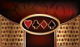 Επαγγελματική κάρτα πόκερ Στοκ εικόνα με δικαίωμα ελεύθερης χρήσης