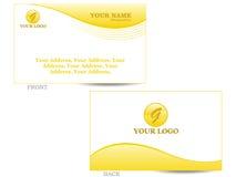 επαγγελματική κάρτα Στοκ Εικόνα