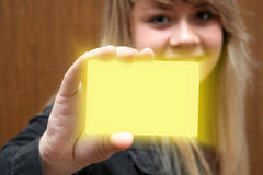 επαγγελματική κάρτα Στοκ Φωτογραφίες