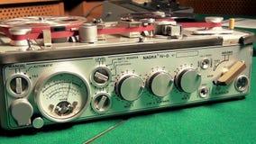 Επαγγελματική μηχανή οργάνων καταγραφής γεφυρών κασετών ήχου απόθεμα βίντεο