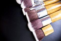 Επαγγελματική συλλογή βουρτσών makeup Στοκ Φωτογραφίες