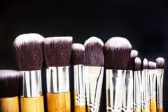 Επαγγελματική συλλογή βουρτσών makeup Στοκ εικόνες με δικαίωμα ελεύθερης χρήσης