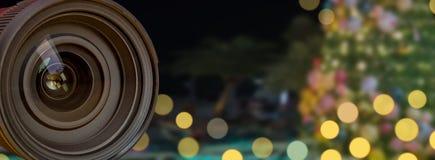 Επαγγελματικός φακός καμερών με την επίδραση υποβάθρου θαμπάδων στοκ εικόνες