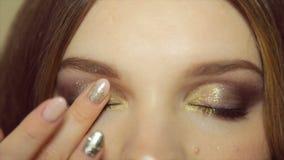 Επαγγελματικό μάτι makeup απόθεμα βίντεο