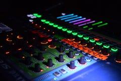 Επαγγελματικό μίγμα του DJ pult Στοκ Εικόνες