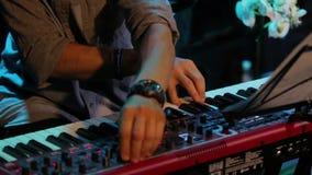 Επαγγελματικό πιάνο παιχνιδιού απόθεμα βίντεο