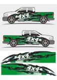 Επαγγελματικό σχέδιο εξαρτήσεων γραφικής παράστασης φορτηγών και οχημάτων decal Στοκ φωτογραφία με δικαίωμα ελεύθερης χρήσης