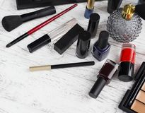 Επαγγελματικό σύνολο makeup Στοκ εικόνες με δικαίωμα ελεύθερης χρήσης