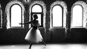 Επαγγελματικό ballerina άλματος στο στούντιο χορού απόθεμα βίντεο