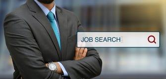 Επαγγελματικά άτομα με την έννοια φραγμών απεικόνισης αναζήτησης εργασίας Στοκ φωτογραφία με δικαίωμα ελεύθερης χρήσης