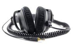 Επαγγελματικά ακουστικά που απομονώνονται στο άσπρο υπόβαθρο στοκ εικόνες