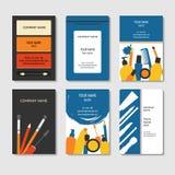 Επαγγελματικές κάρτες καλλυντικών και ομορφιάς καθορισμένες Στοκ εικόνα με δικαίωμα ελεύθερης χρήσης