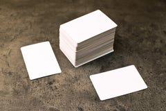 Επαγγελματικές κάρτες με τις στρογγυλευμένες γωνίες Στοκ φωτογραφίες με δικαίωμα ελεύθερης χρήσης