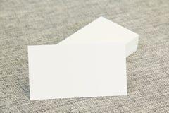 Επαγγελματικές κάρτες που αφήνονται Στοκ Φωτογραφίες
