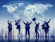 Επαγγελματική έννοια ομαδικής εργασίας ομάδας συνεργασίας επιχειρηματιών στοκ εικόνα