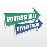 Επαγγελματική ανάπτυξη στα βέλη, επίπεδο σχέδιο Στοκ Εικόνα