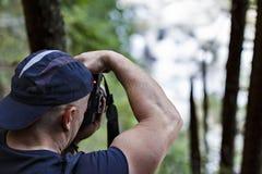 Επαγγελματική εργασία φωτογράφων φύσης Στοκ Εικόνες