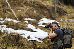 Επαγγελματική εργασία φωτογράφων φύσης Στοκ Φωτογραφία