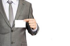 Επαγγελματική κάρτα εκμετάλλευσης επιχειρησιακών ατόμων Στοκ Εικόνα