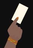 Επαγγελματική κάρτα εκμετάλλευσης χεριών Στοκ εικόνα με δικαίωμα ελεύθερης χρήσης