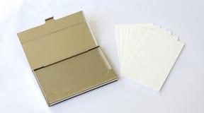 Επαγγελματική κάρτα και κιβώτιο Στοκ εικόνες με δικαίωμα ελεύθερης χρήσης