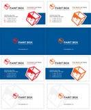 Επαγγελματική κάρτα κιβωτίων χρωμάτων Στοκ εικόνες με δικαίωμα ελεύθερης χρήσης