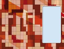 Επαγγελματική κάρτα με αφηρημένο texture1 Στοκ εικόνες με δικαίωμα ελεύθερης χρήσης